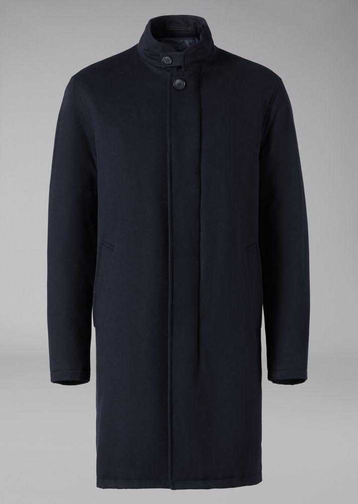 ... GIORGIO ARMANI Manteau en cachemire avec rembourrage en cachemire Trench-coat  Homme r ...