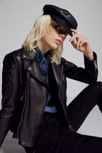 DSQUARED2 Biker Leather Jacket Leather outerwear Woman