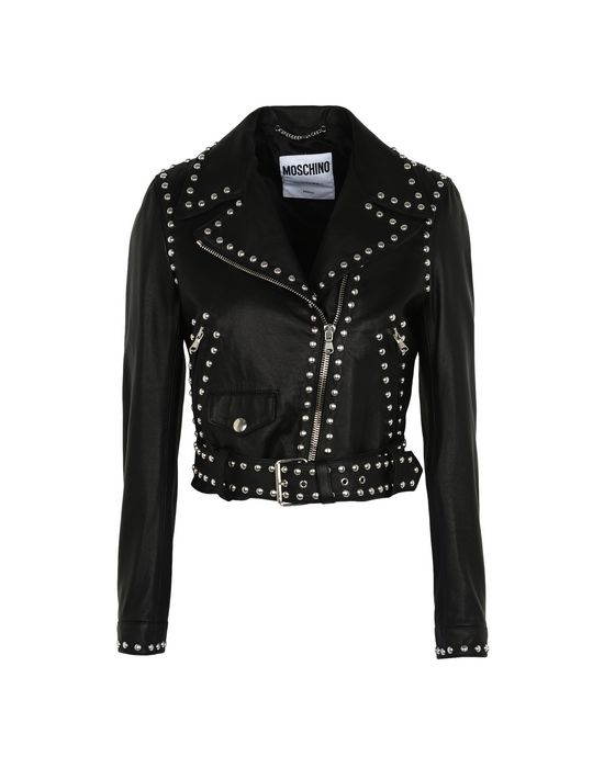 Leather outerwear Woman MOSCHINO