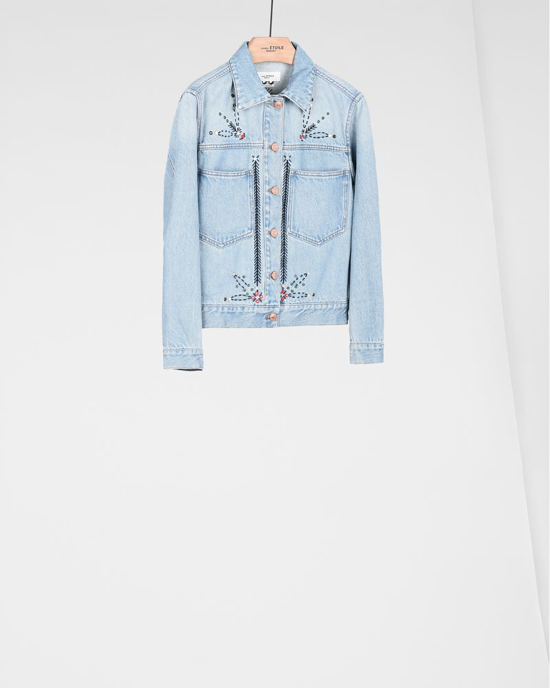 CABELLA embroidered denim jacket  ISABEL MARANT ÉTOILE
