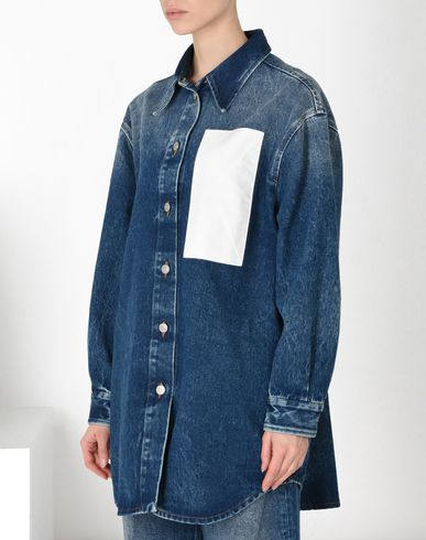 MM6 MAISON MARGIELA Blazer Woman Denim jacket with envelope pocket f