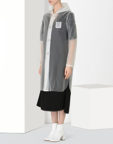 MM6 MAISON MARGIELA Raincoat Woman Transparent PVC rain coat f