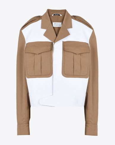MAISON MARGIELA Blazer D Bonded cotton jacket with cut-out details f