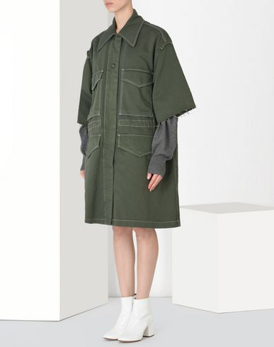 MM6 MAISON MARGIELA Raincoat Woman Oversized canvas safari jacket f
