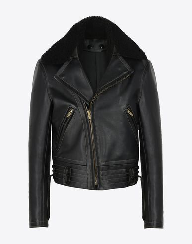 MAISON MARGIELA Leather Jacket U Replica' biker jacket f