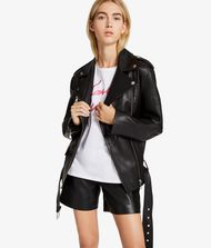 KARL LAGERFELD Oversized Leather Biker Jacket 9_f