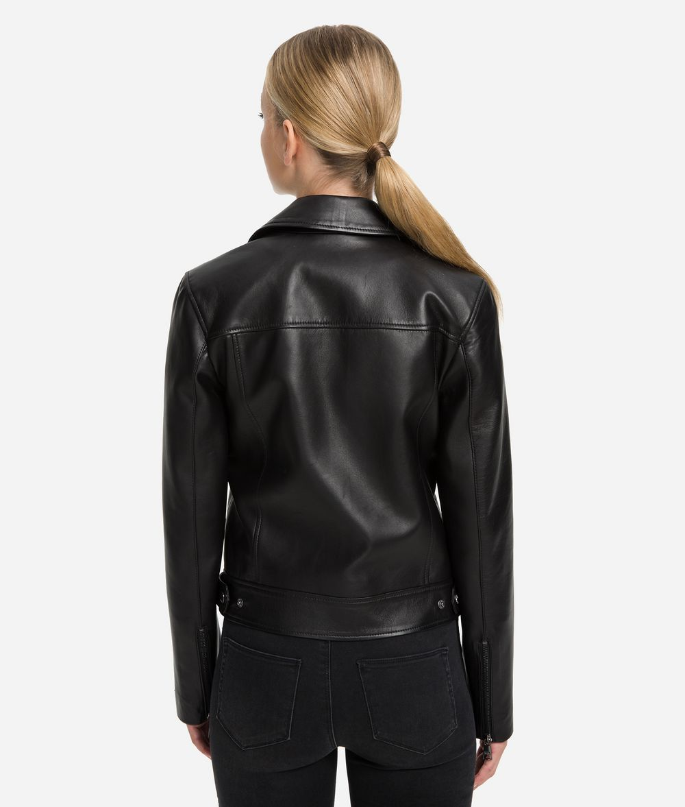 KARL LAGERFELD Ikonik Odina Biker Jacket Jacket Woman d