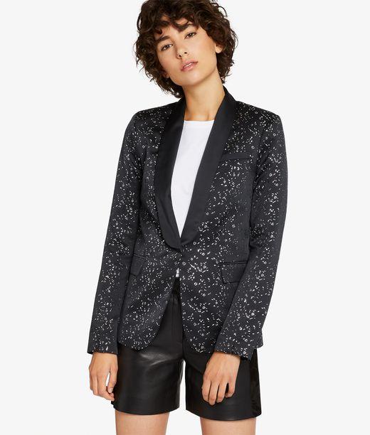 KARL LAGERFELD Diamond Jacquard Tux Blazer 12_f