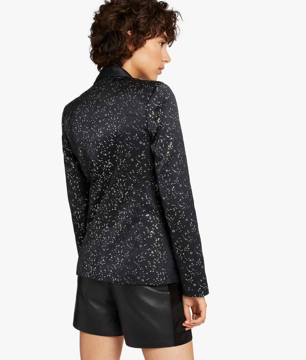 KARL LAGERFELD Diamond Jacquard Tux Blazer Blazer Woman d