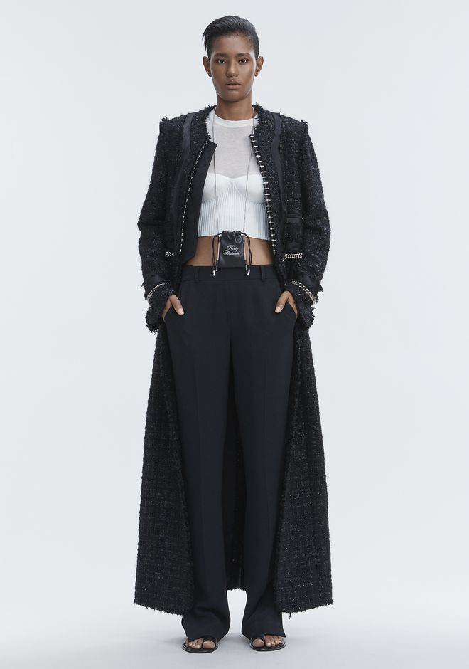 ALEXANDER WANG JACKETS AND OUTERWEAR  Women DECONSTRUCTED TWEED COAT