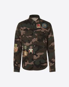 VALENTINO UOMO JACKET U Outerwear shirt with military embroidery f