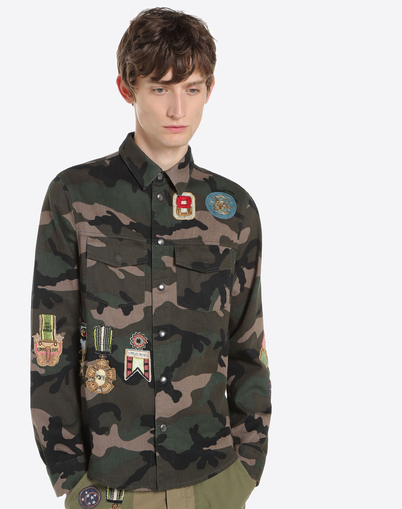 VALENTINO UOMO Outerwear shirt with military embroidery JACKET U a