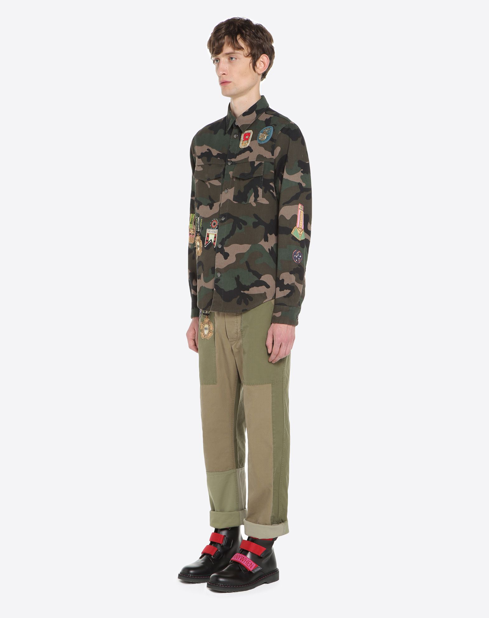 VALENTINO UOMO Outerwear shirt with military embroidery JACKET U d