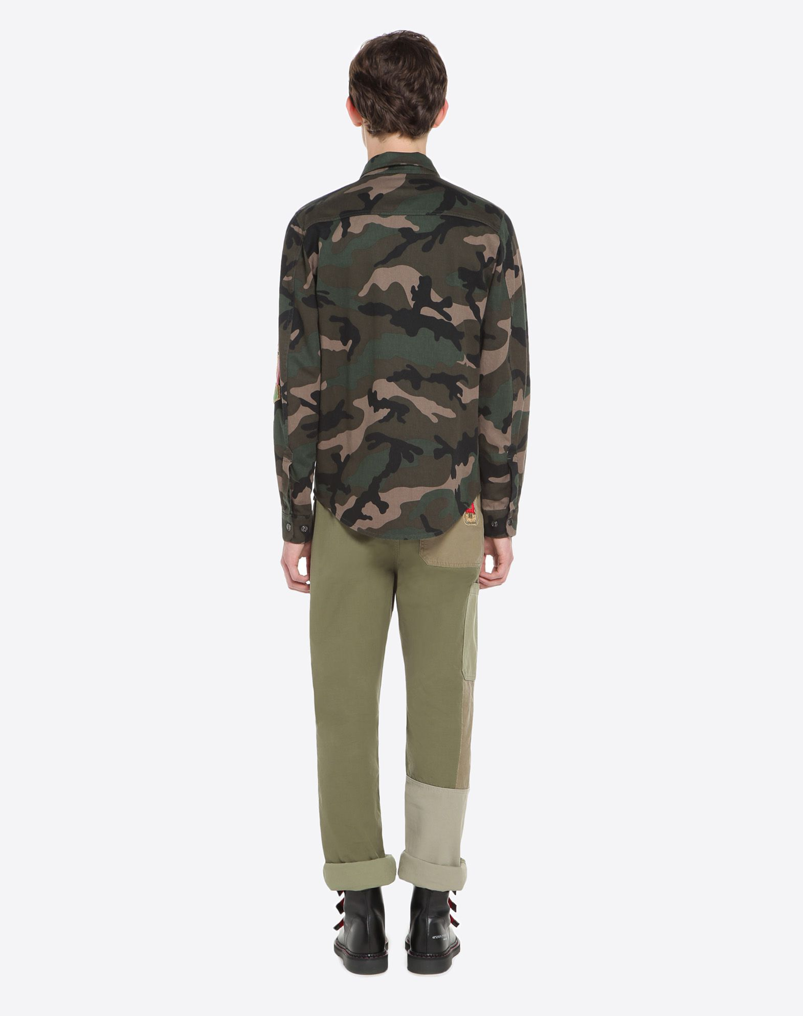 VALENTINO UOMO Outerwear shirt with military embroidery JACKET U e