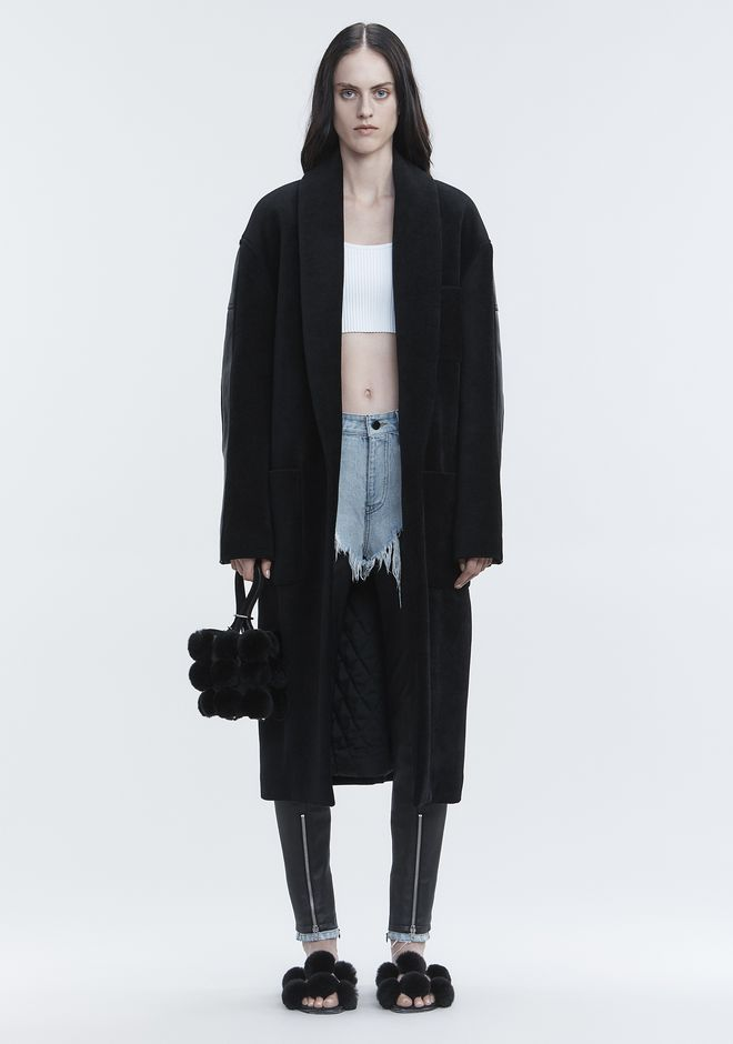 ALEXANDER WANG JACKETS AND OUTERWEAR  Women LEATHER HYBRID ROBE