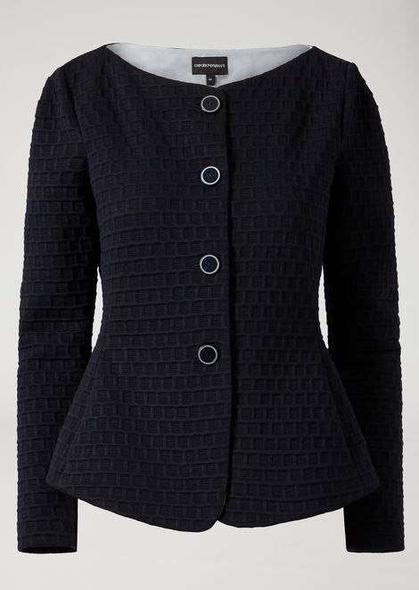 QUILTED CHECKED JACKET