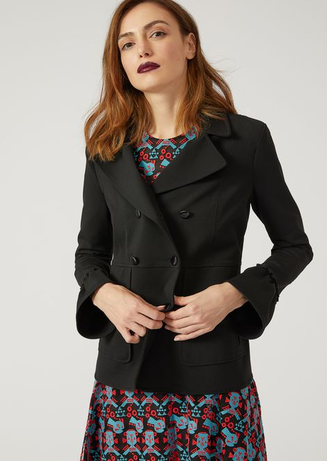 Jacket with oversized cuffs