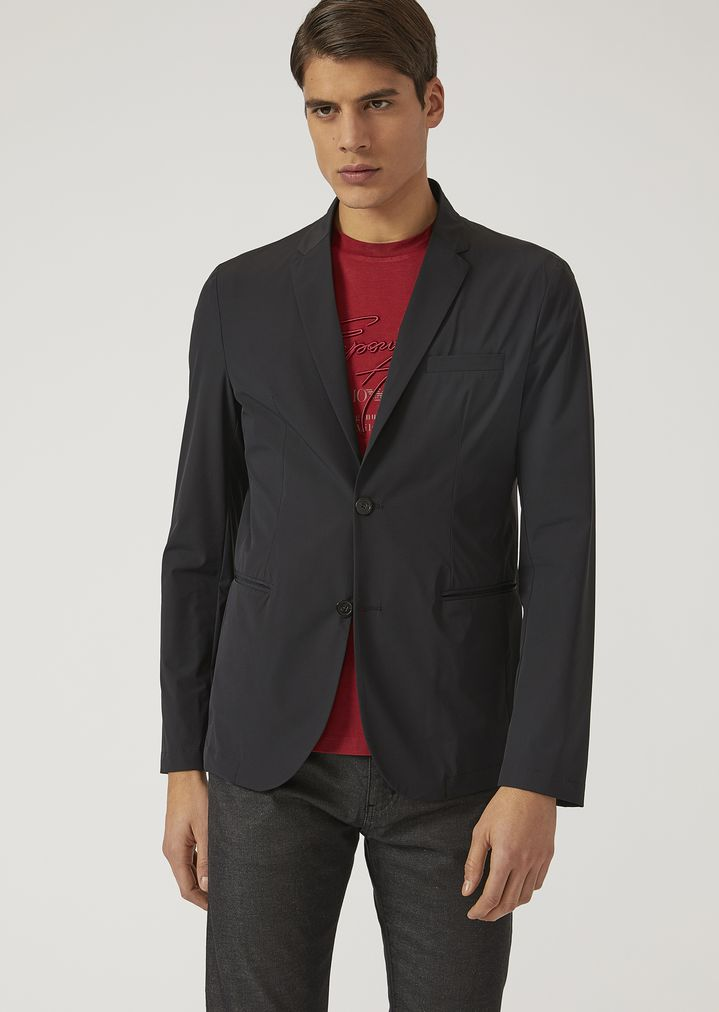 0f754d890b UNLINED JACKET IN STRETCH FABRIC   Man   Emporio Armani