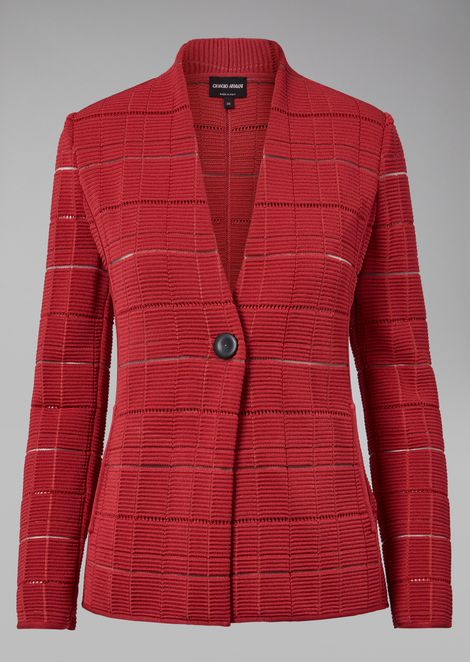 Jacket in fancy fabric