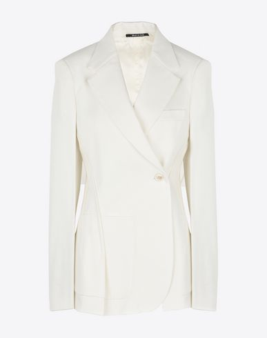 MAISON MARGIELA Blazer Woman Asymmetric cotton blazer f