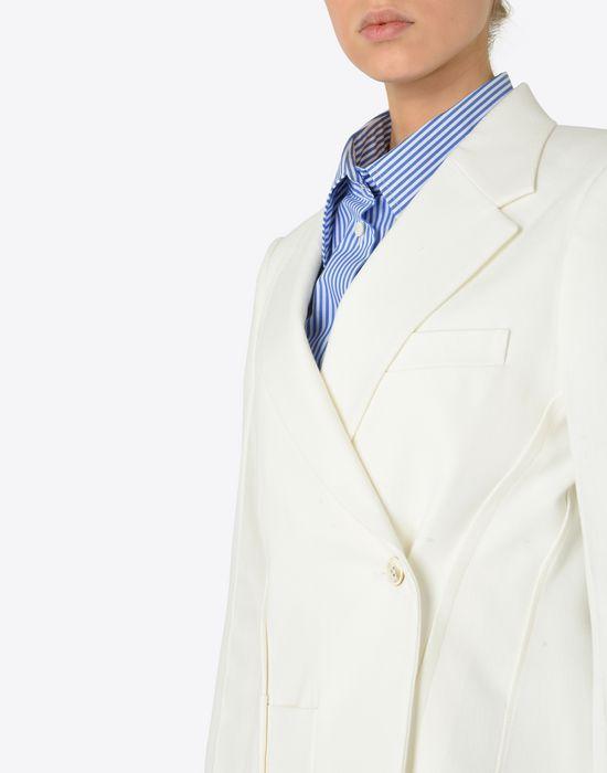 MAISON MARGIELA Asymmetric cotton blazer Jacket [*** pickupInStoreShipping_info ***] a