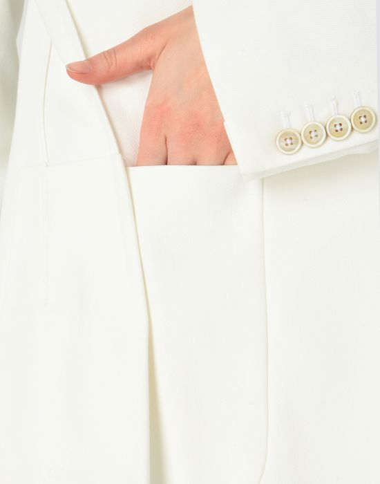 MAISON MARGIELA Asymmetric cotton blazer Jacket Woman b