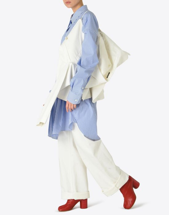 MAISON MARGIELA Asymmetric cotton blazer Jacket [*** pickupInStoreShipping_info ***] d