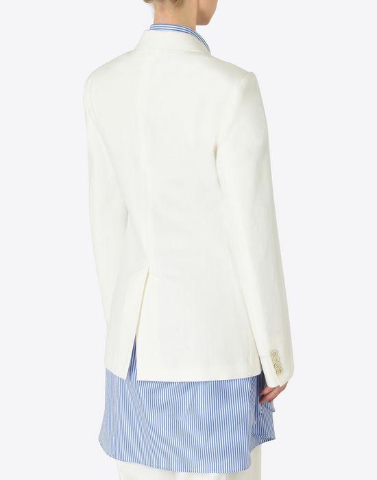 MAISON MARGIELA Asymmetric cotton blazer Jacket [*** pickupInStoreShipping_info ***] e