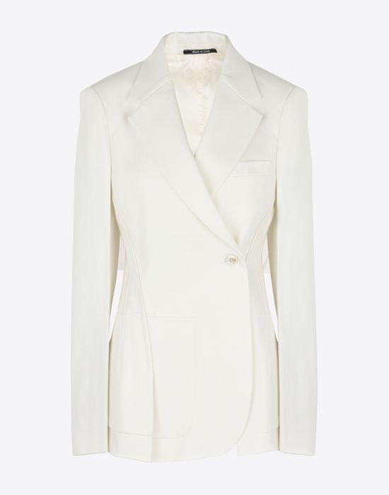 MAISON MARGIELA Asymmetric cotton blazer Jacket [*** pickupInStoreShipping_info ***] f