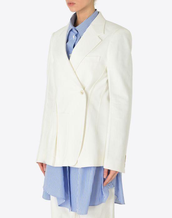 MAISON MARGIELA Asymmetric cotton blazer Jacket [*** pickupInStoreShipping_info ***] r
