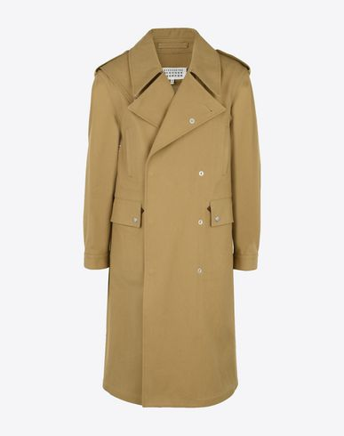 MAISON MARGIELA Raincoat U Heavy twill cotton trench f