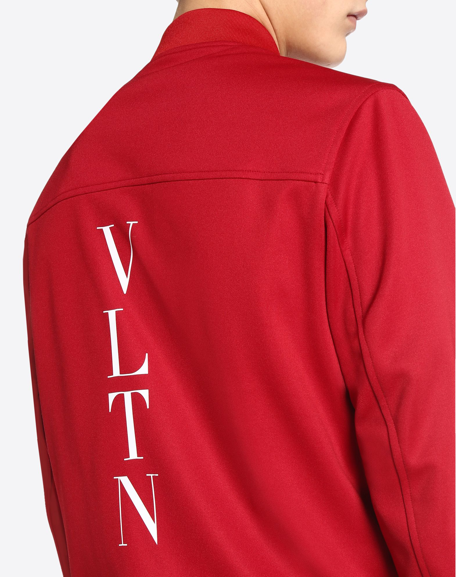 VALENTINO UOMO Vertical stripe inlays sweatshirt with VLTN logo JACKET U a