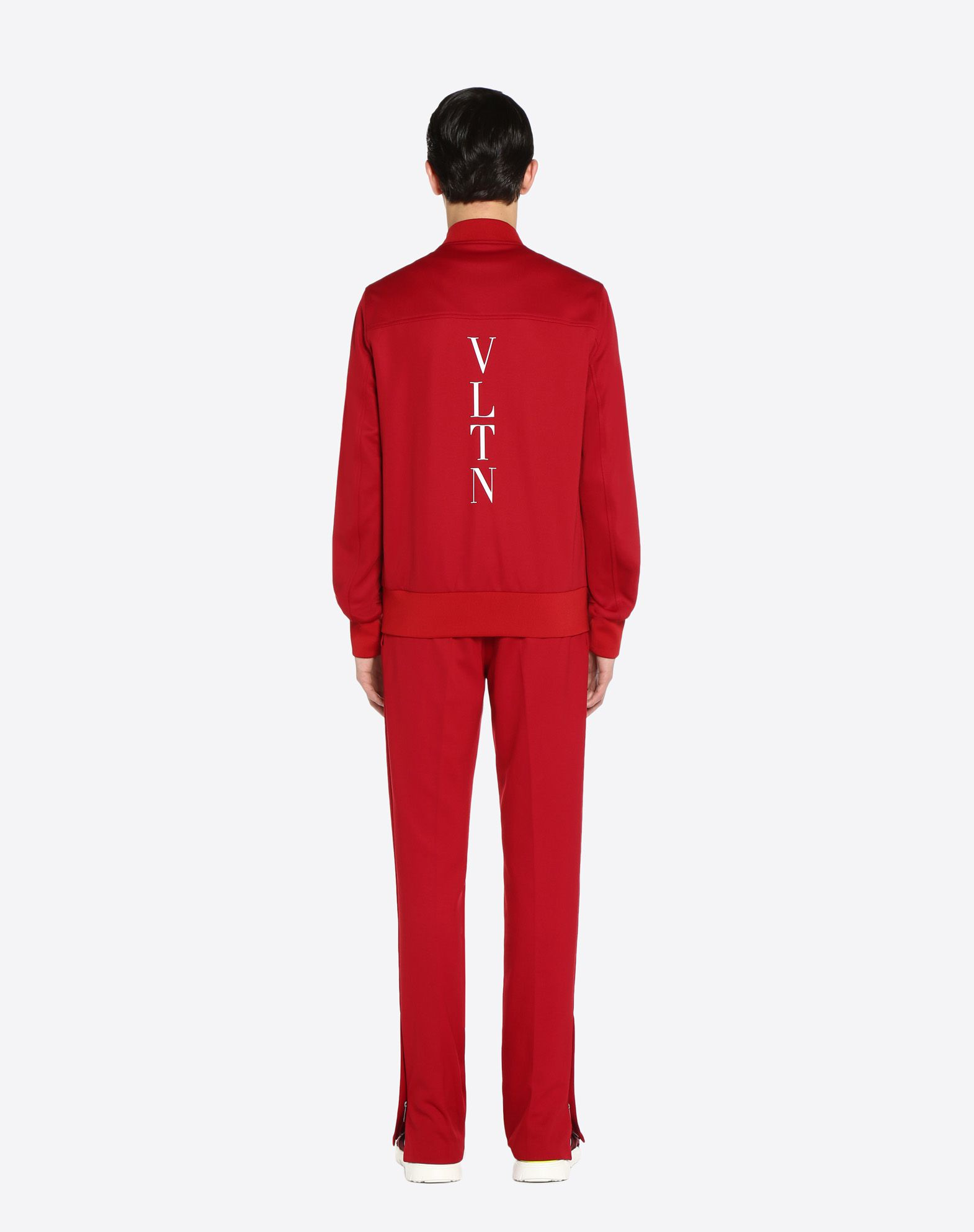 VALENTINO UOMO Vertical stripe inlays sweatshirt with VLTN logo JACKET U e