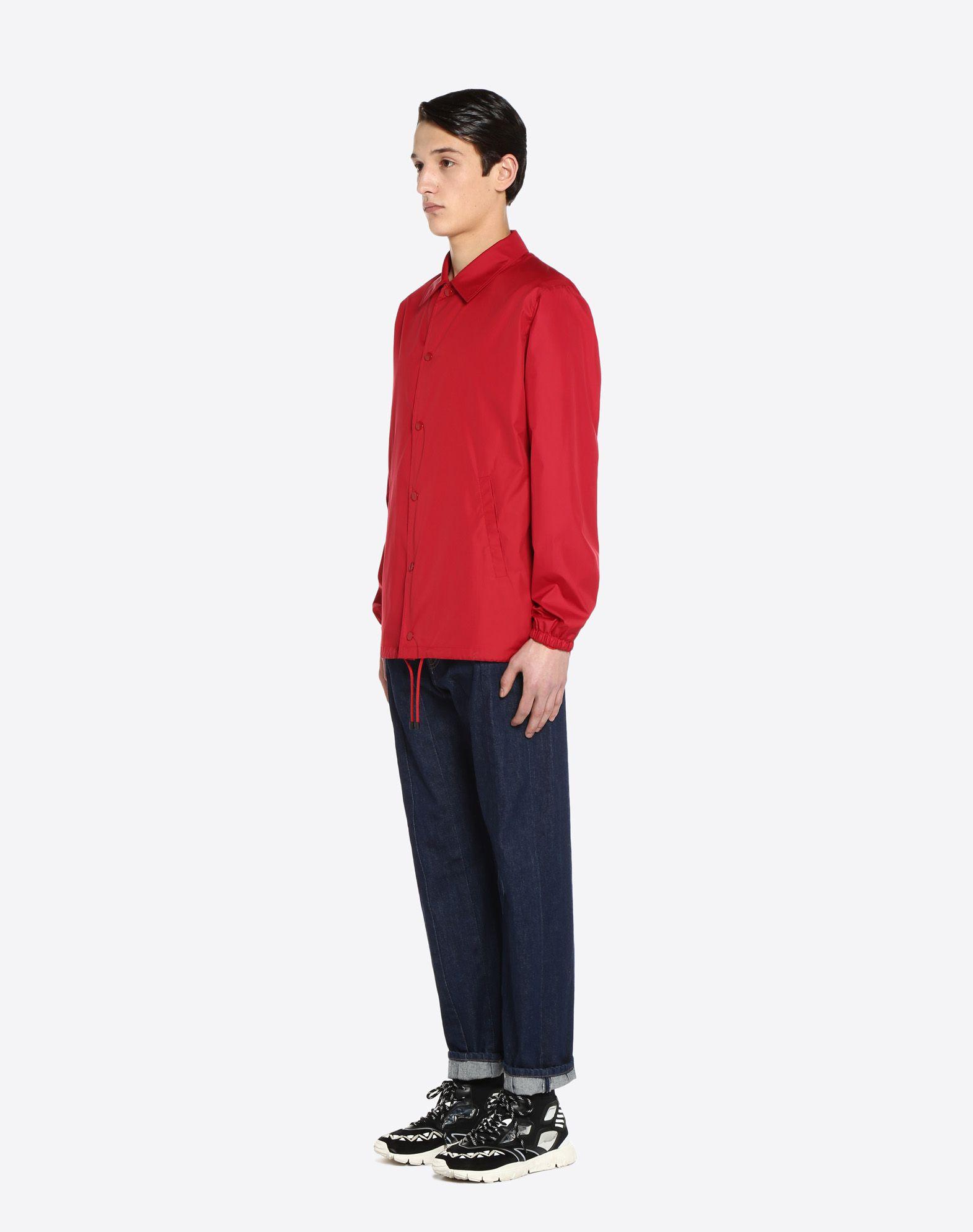 "VALENTINO UOMO ""Coach jacket with VLTN print  ""  JACKET U d"