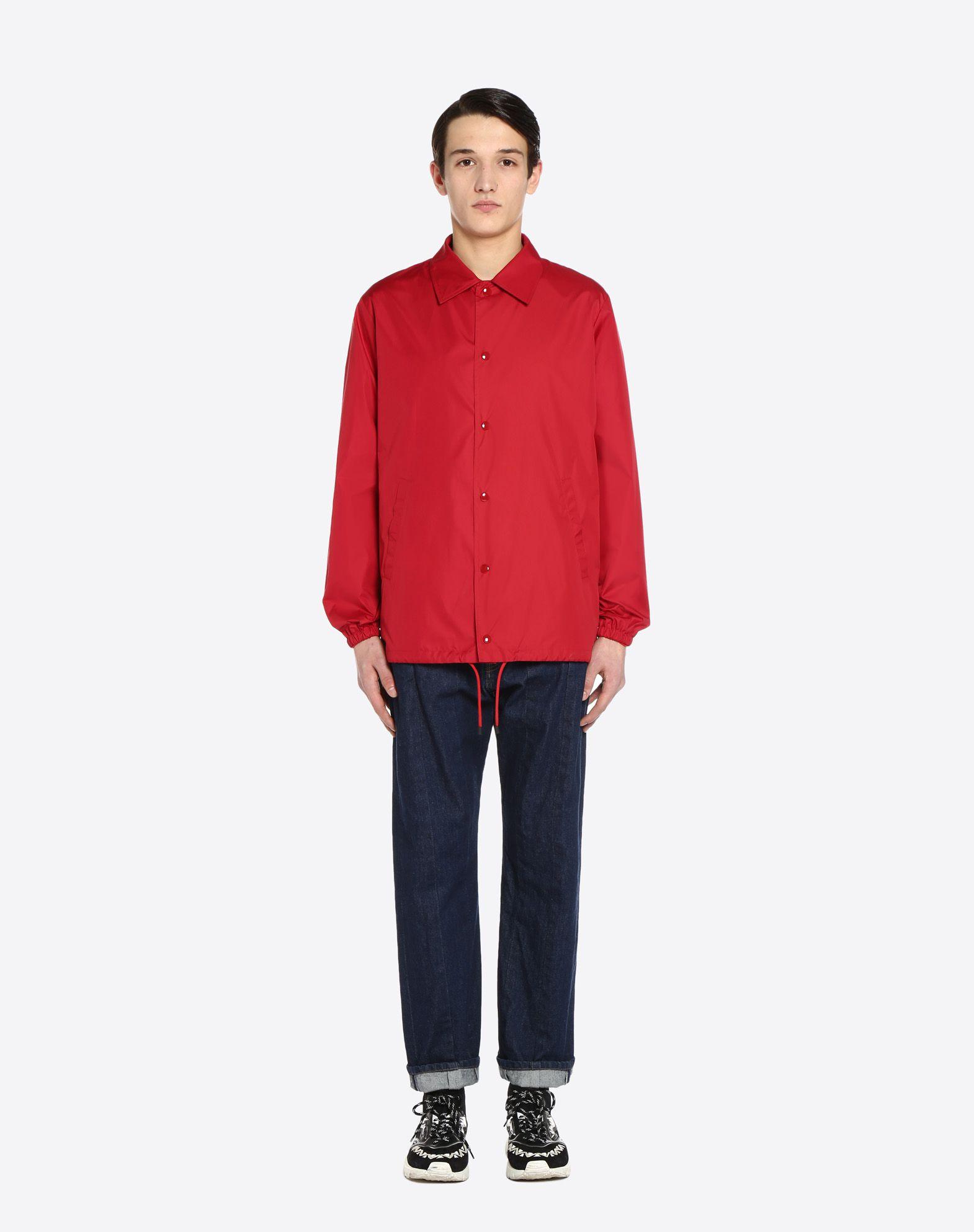 "VALENTINO UOMO ""Coach jacket with VLTN print  ""  JACKET U r"