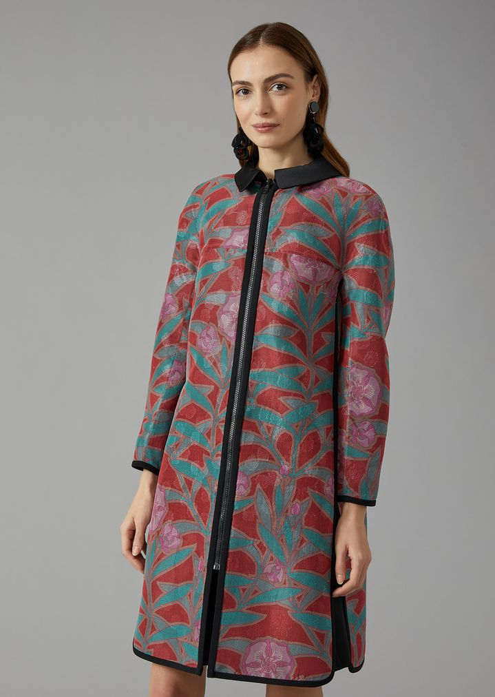 a8c05b1a6f0 Reversible silk coat | Woman | Giorgio Armani