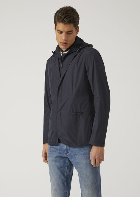 JACKET IN TECHNICAL FABRIC