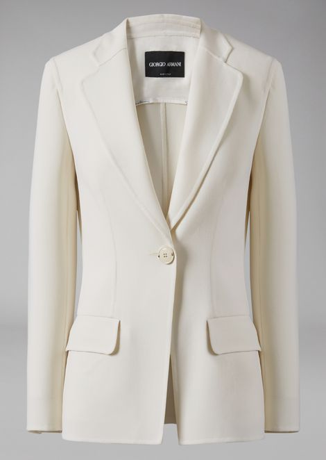 Jacket in double faille