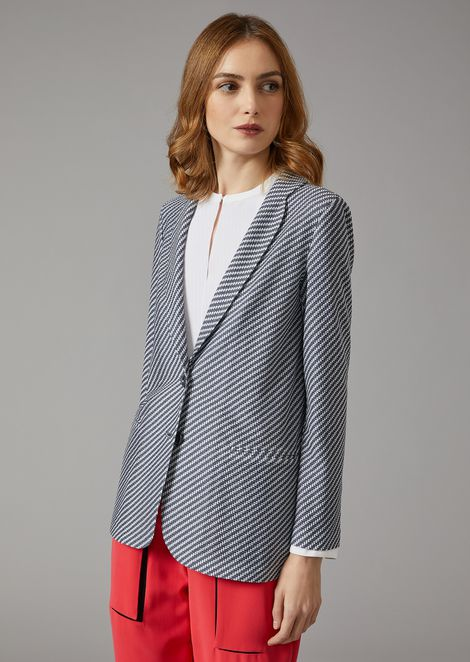Single breasted striped jacket