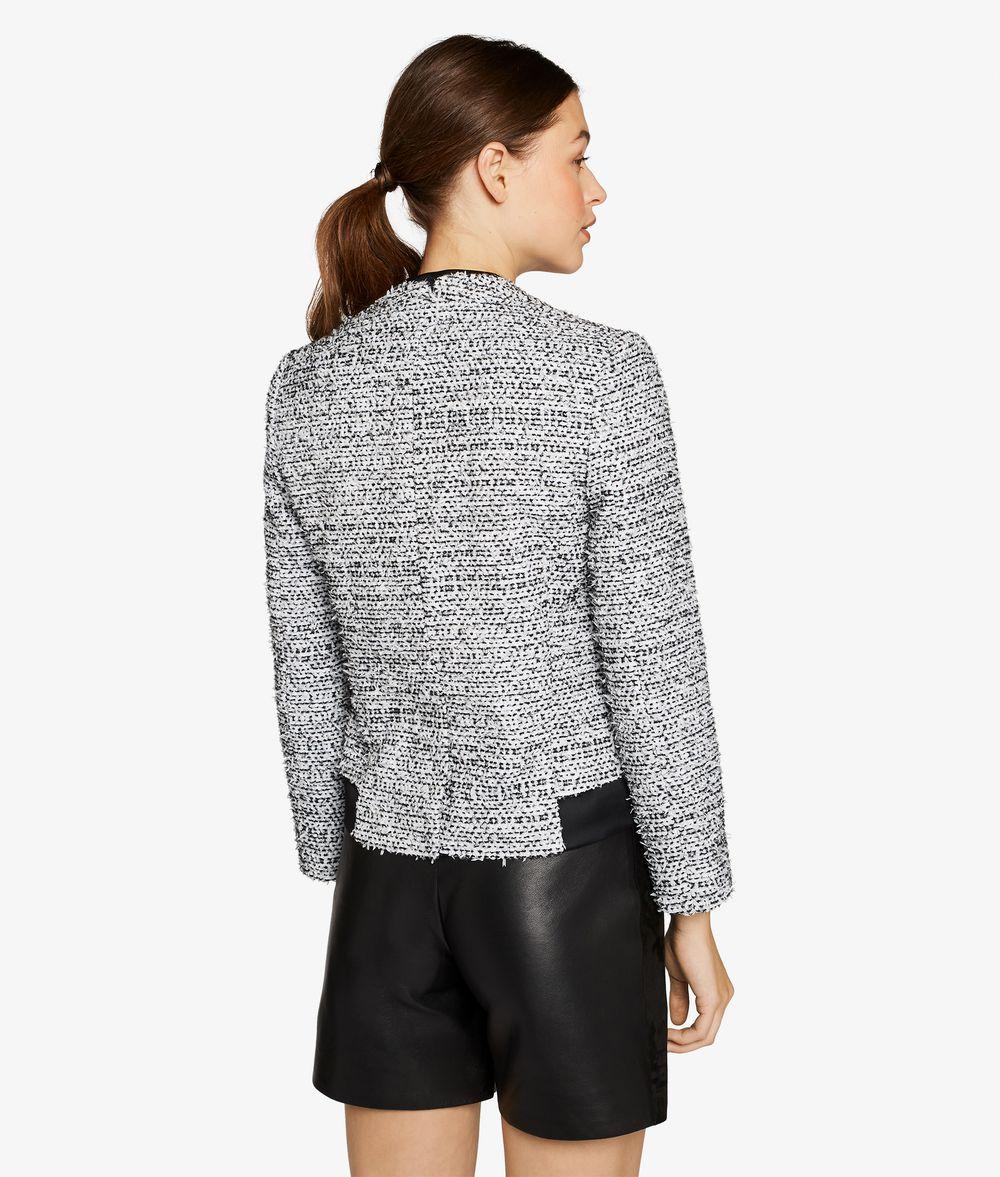 KARL LAGERFELD Bouclé & Satin Blazer Jacket Woman d