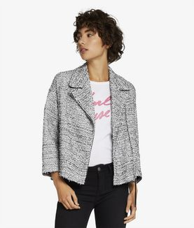 KARL LAGERFELD OVERSIZED BOUCLE BIKER JACKET