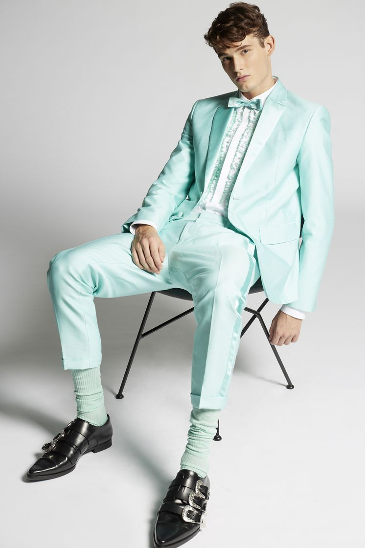 Dsquared2 Silk Cotton Prom Blazer Light Green - JACKET ...
