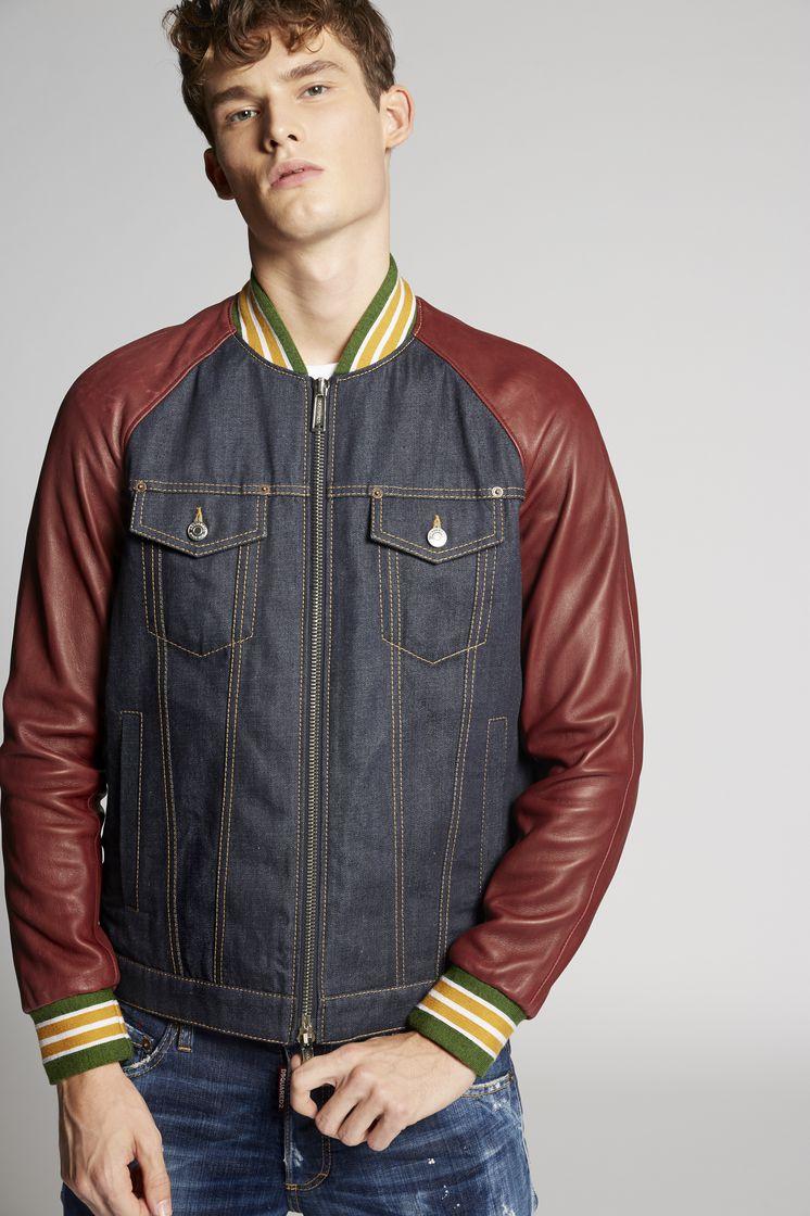 Denim leather jackets