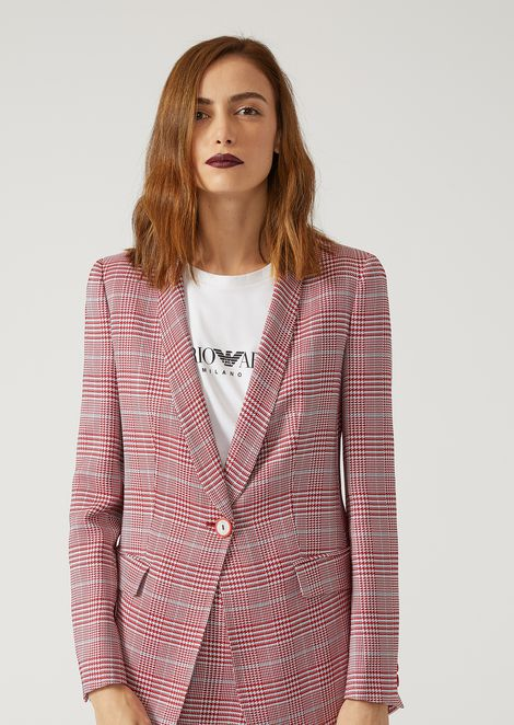SINGLE-BREASTED PRINCE OF WALES JACKET