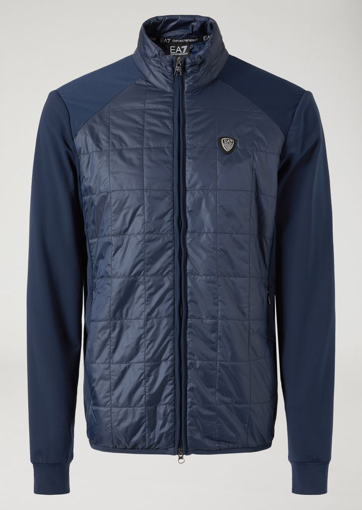 Padded Jacket With Stretch Sleeves Man Ea7