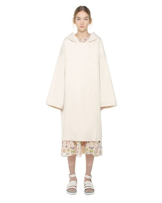 REDValentino Oversize wool coat with press studs