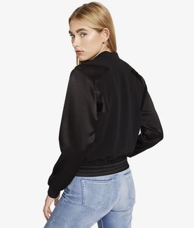 KARL LAGERFELD CROPPED STAR BOMBER JACKET