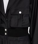 KARL LAGERFELD Long Rib Detail Jacket 8_d