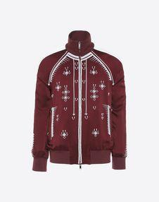 VALENTINO UOMO JACKET U Sweatshirt with geometric embroidery f