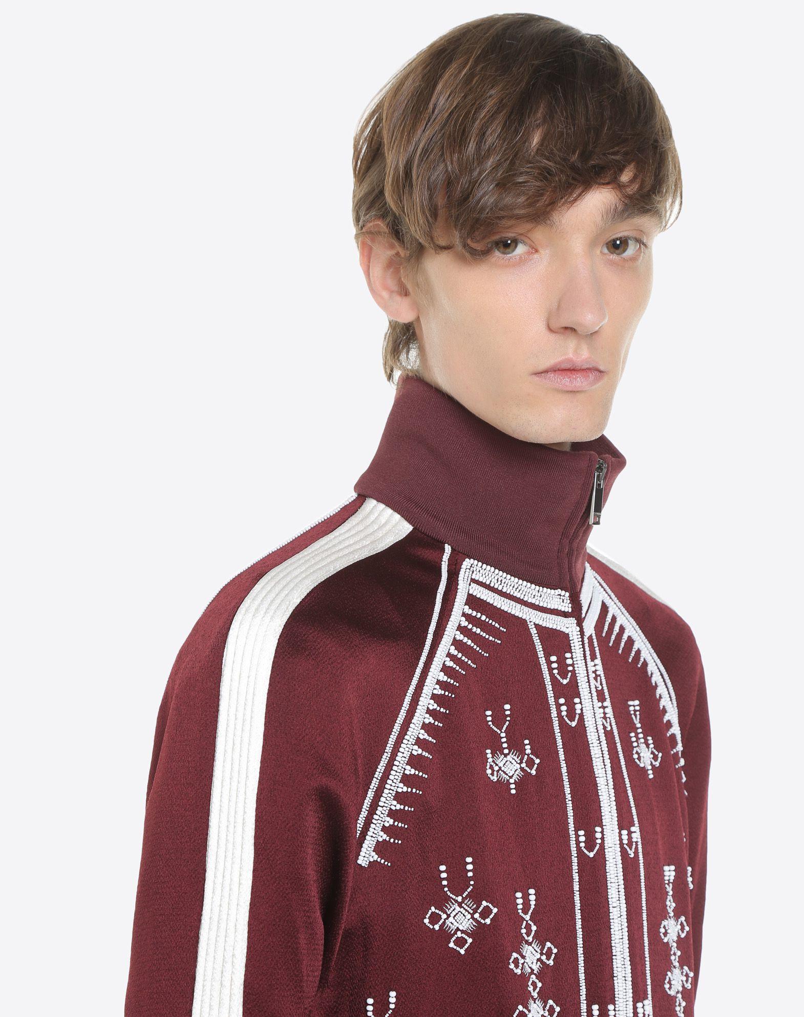 VALENTINO UOMO Sweatshirt with geometric embroidery JACKET U a